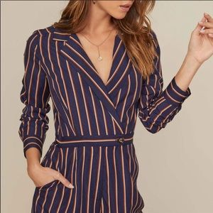Astr The Label Wide Leg Pantsuit Jumpsuit